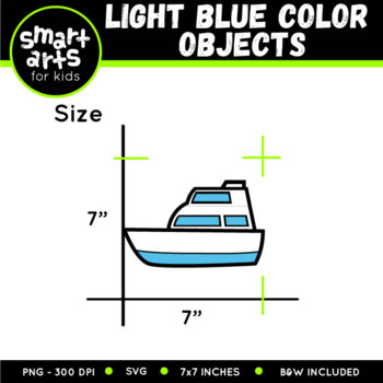 FREE Light Blue Color Objects Clip Arts