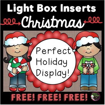 FREE Light Box Inserts - Christmas Theme