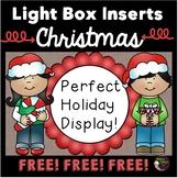 Light Box Inserts Christmas Themed- FREE
