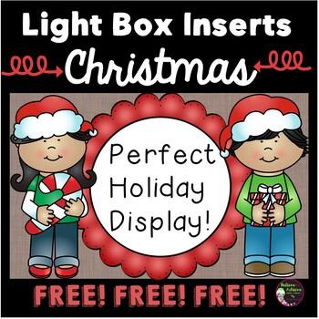 FREE Light Box Inserts - Christmas Theme