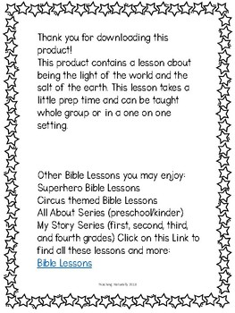 Light of the World Bible Lesson