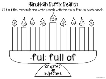 {FREE!} Light the Menorah: Suffix Search!