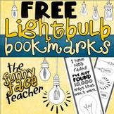 FREE Printable Lightbulb Bookmarks to Color