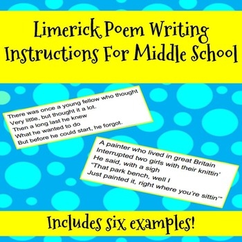 FREE Limerick Poem Writing Instructions Handout For Middle