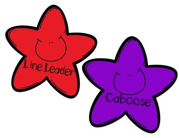 FREE- Line Leader & Caboose Floor Markers