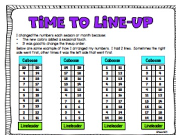 Line Up Classroom Management