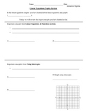 FREE: Linear Equations Topics Review Guided Notes