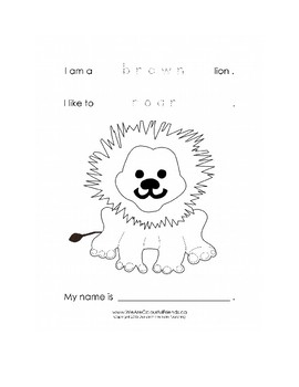 FREE Lion Coloring Sheets_We Are Colorful Friends