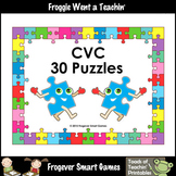 CVC Word Puzzles--30 Two Piece Puzzles