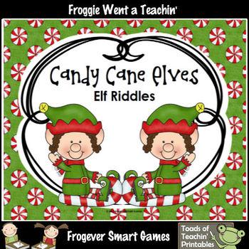 FREE Literacy Center--Candy Cane Elves (Elf Riddles)