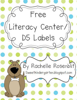*FREE* Literacy Center Icons