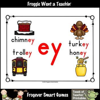 Vowel Team Posters--Look, Listen, Learn Long E Vowel Team /ey/