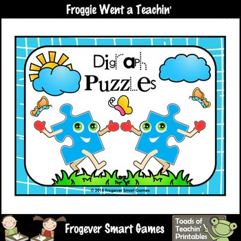 FREE Literacy Center Sample of Digraph Puzzles
