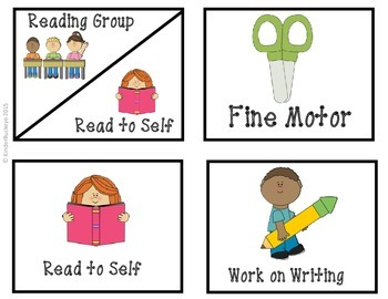 FREE Literacy Center Signs/Icons
