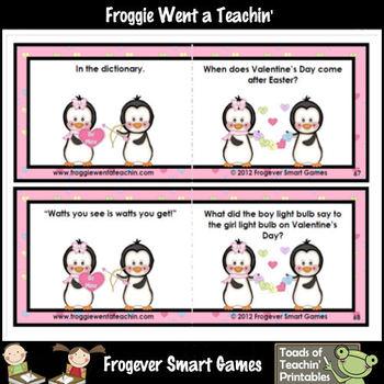 Valentine's Day Freebie--The Valentine Funnies (Valentine's Day riddles)