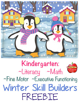 FREE Literacy, Math, Fine-Motor, Executive Functioning: Winter Skill Builders