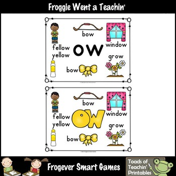 Vowel Team Posters--FREE Look, Listen, Learn 4 Additional Vowel Team /ow/