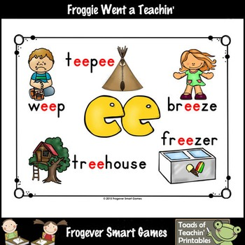 Vowel Team Posters--FREE Look, Listen, Learn 4 Additional Vowel Team /ee/