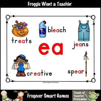 Vowel Team Posters--FREE Look ,Listen, Learn 4 More Long Vowel Team /ea/