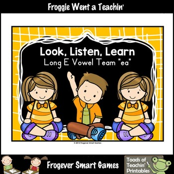 Vowel Team Posters--FREE Look ,Listen, Learn 4 More Long V