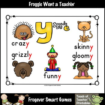 "Literacy Resource--Look,Listen,Learn Long E Vowel Team ""y"" (e sound)"