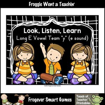 "Literacy Resource--Look,Listen,Learn Long E Vowel Team ""y"" (e sound)"