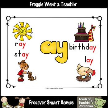 Vowel Team Posters--Look, Listen, Learn Long A Vowel Team /ay/