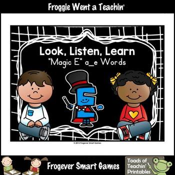 "Magic E Posters--Look, Listen, Learn ""Magic E"" a_e Words"