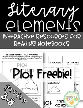 Free Literary Elements Foldables For Plot In Interactive Notebooks