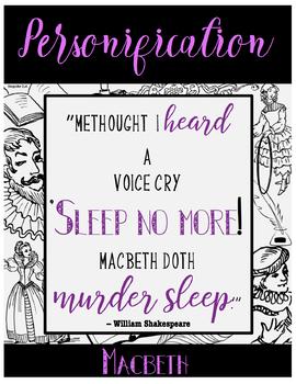 FREE Literary & Rhetorical Device Poster Set-- Shakespeare Theme