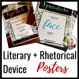 FREE Literary & Rhetorical Device Poster Set-- Shakespeare Theme