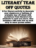 FREE Literary Tear Off Quotes