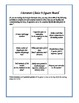 FREE - Literature Choice Board (aka Literary Bingo)