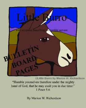 FREE: Little Burro Christian Children's Book Bulletin Board Images