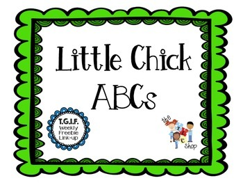 FREE! Little Chick ABCs