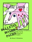 FREE: Little Lamb Christian Children's Book Bulletin Board Images