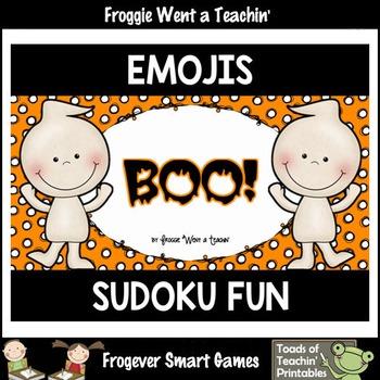 FREE Logic-- Emoji Sudoku Puzzle Gameboards/Halloween Emoj