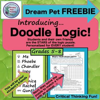 FREE Logic Puzzle, Doodle Logic, Critical Thinking