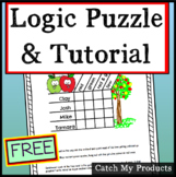 FREE Logic Puzzle With Tutorial  (How to Solve Logic Puzzles)