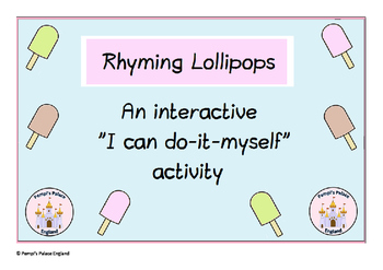FREE Summer Lollipop Rhyming Word Puzzles