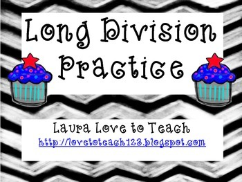 FREE Long Division Cards