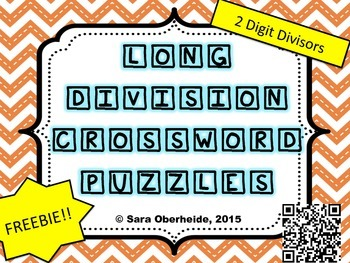 FREE - Long Division Crossword Puzzles