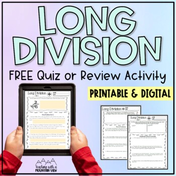 *FREE* Long Division Quiz or Review