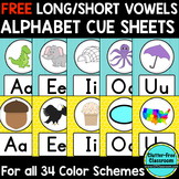 FREE Long/Short Vowel Alphabet Posters Classroom Color Sch