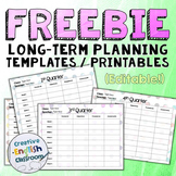 FREE Long Term Planner Template with Polka Bokeh