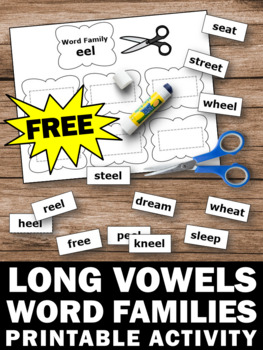 FREE Long Vowel Worksheets, Activities for First Grade by Promoting ...