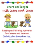 """FREE """"Long and Short A Reading and Writing Activities"""", In"""