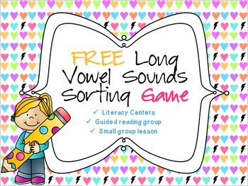 FREE Long vowel sounds sorting game!