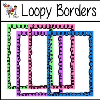 FREE! Loopy Borders (Pastel Set)