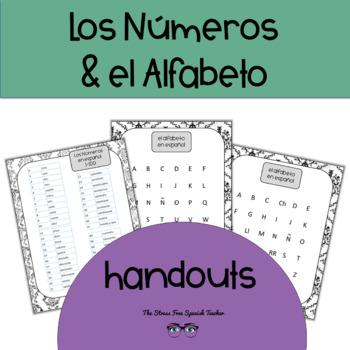 FREE Spanish Numbers and Alphabet Handouts Los Numeros y El Alfabeto